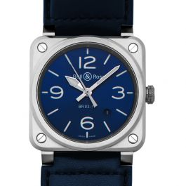 Bell & Ross Instruments BR0392-BLU-ST/SCA