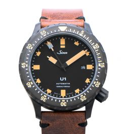 Sinn Diving Watches 1010.023-Leather-Cowhide in Vintage-Style-DSB-Brown