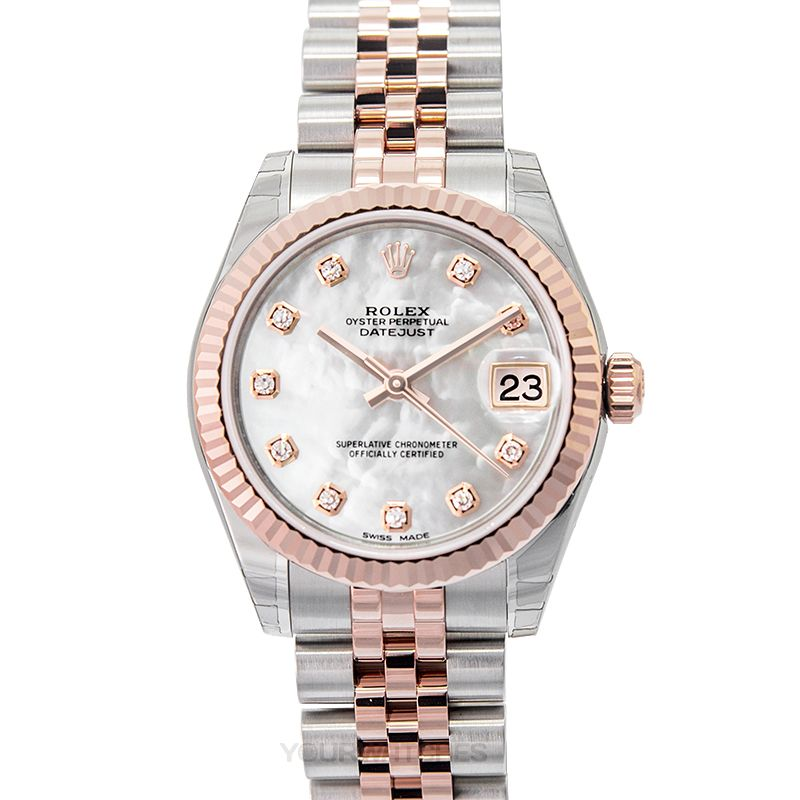 Rolex Lady Datejust 178271 White MOP GG