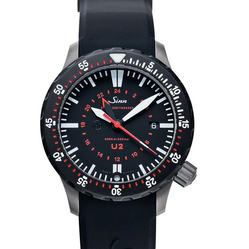 Sinn Diving Watches 1020.050-Silicone-LFC-Blk