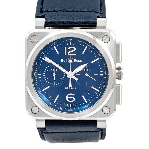 Bell & Ross Instruments BR0394-BLU-ST/SCA
