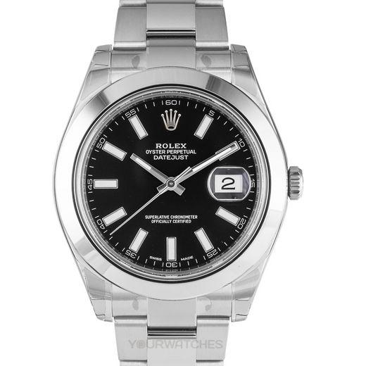 Rolex Datejust 116300/Black Stick