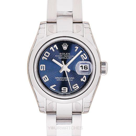 Rolex Lady Datejust 179160 Blue Arabic Oyster